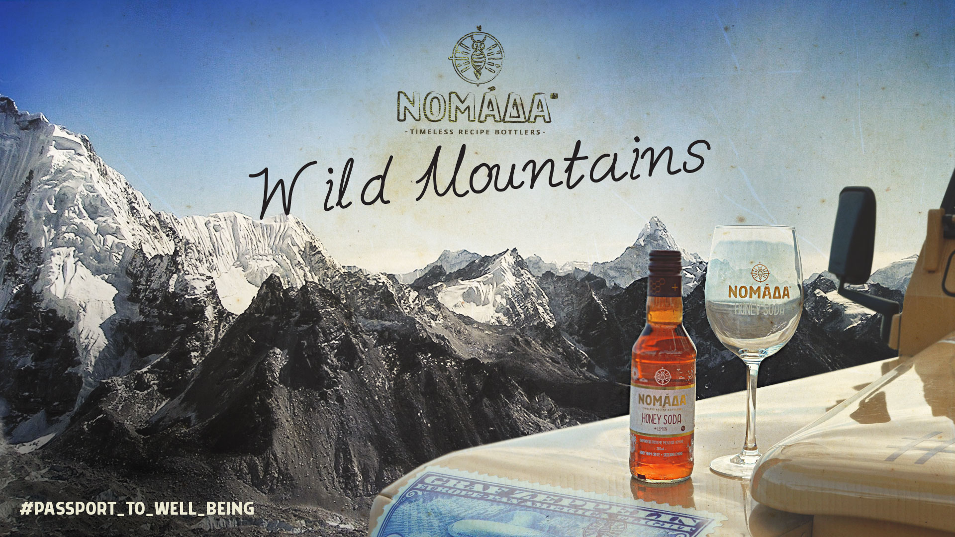 WILD MOUNTAINS - Nomada Honey Soda | Sparkling water with